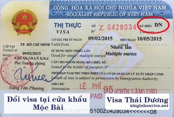 đổi visa tại cửa khẩu Mộc Bài