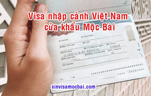 Cách dán visa Việt Nam tại Mộc Bài - Tây Ninh